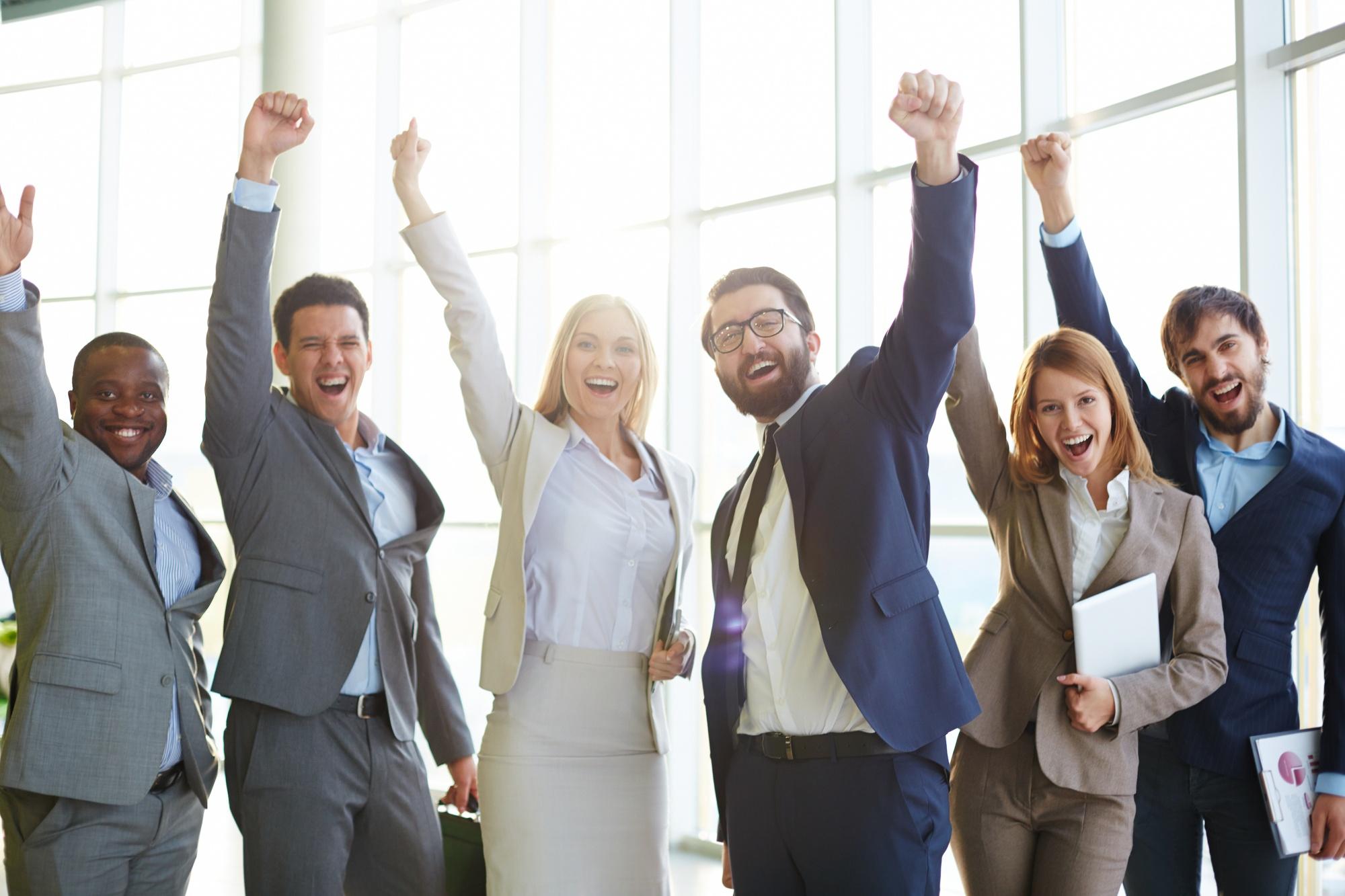 businesspeople-celebrating-success